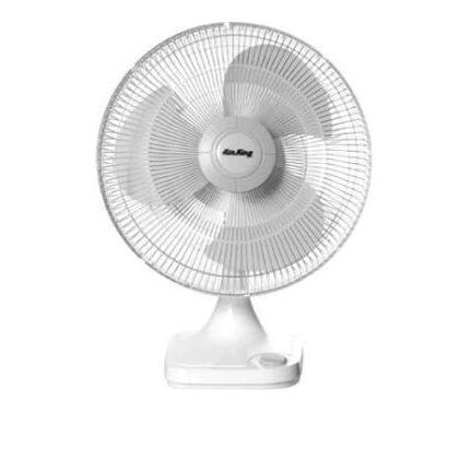"""16"""" Oscillating Table Fan, 3 Speed, 120V, White"""