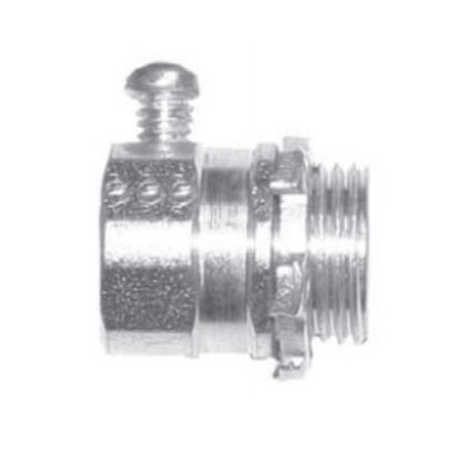 EMT Set Screw Connector, 3 inch, Malleable Iron.