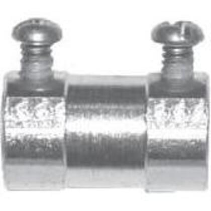 EMT Set Screw Coupling, Malleable Iron, 3-1/2 inch