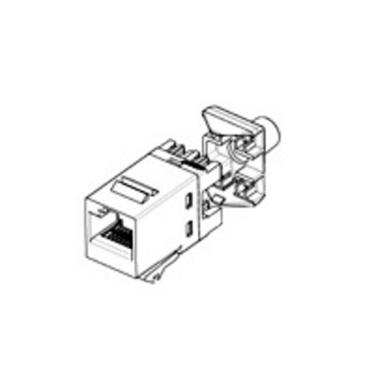 Snap-In Connector, Keystone, Cat 5e, Almond