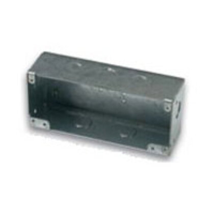 """Undercarpet Cable Box, Depth: 2.42"""", 1/2"""" and 3/4"""" Kos, Steel"""