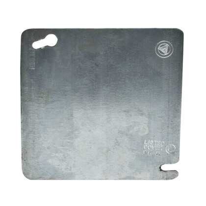 """4"""" Square Cover, Flat, Blank"""