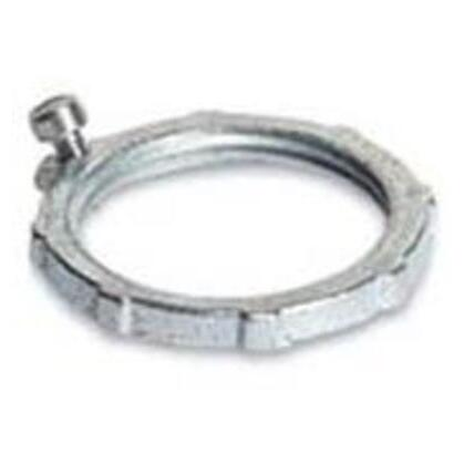 "Bonding Locknut. Size: 4"". Material: Zinc Plated Steel"