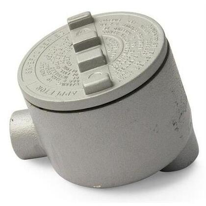 """Conduit Outlet Box, Type GRLB, (2) 2"""" Hubs, Malleable"""