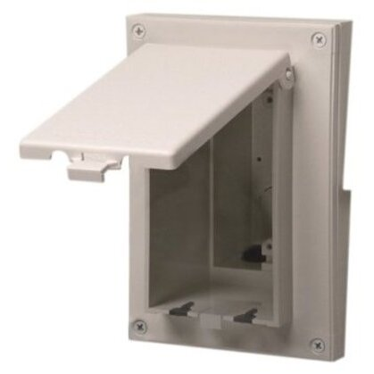 Weatherproof-In-Use Box, 1-Gang, Recessed, Vertical, Non-Metallic
