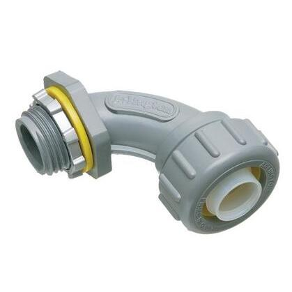 "Liquidtight Connector, 90°, 1/2"", Non-Metallic"