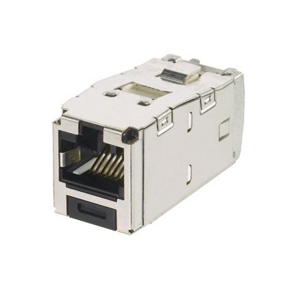 Mini-Com Keyed Module, Cat 6A, Shielded,