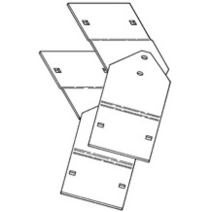 """Cable Tray Vertical Adjustable Splice Plate, 7"""""""