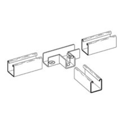 TEE STRUT JOINER, FOR 1 5/8-IN. X 1 5/8-IN. CHANNEL, ZINC PLATED