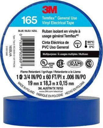"General Use Vinyl Electrical Tape, Multi-Purpose, Blue, 3/4"" x 60'"