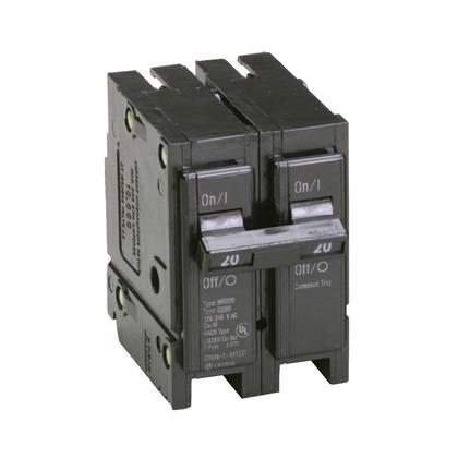 Circuit Breaker, Plug-In, Type BR, 2-Pole, 20 Amp, 120/240V