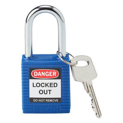 Blue Safety Padlock, Plastic