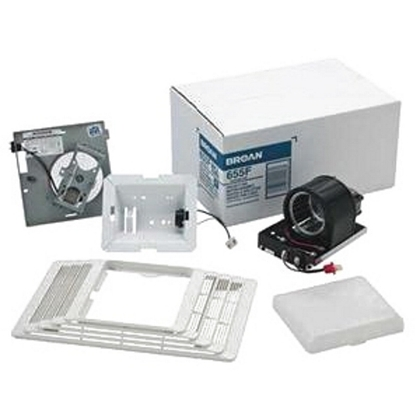 Finish Pack. Heater/Fan/Light Assembly and Grille. 70 CFM, 4.0 Sones, 100W light, 1300W heater. Uses 654H housing pack.