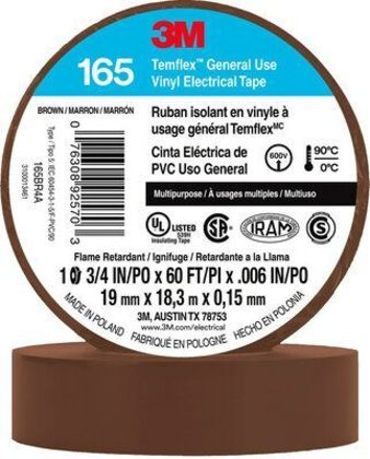 "General Use Vinyl Electrical Tape, Multi-Purpose, Brown, 3/4"" x 60'"
