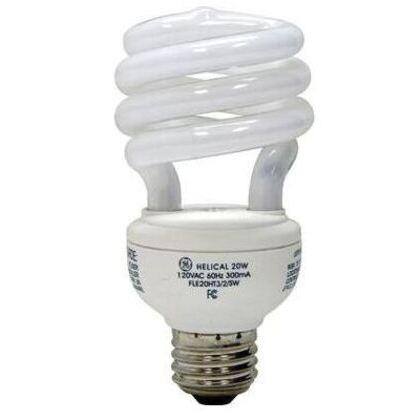 20W Spiral Compact Fluorescent, T3, 2700K, 120V