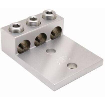 Mechanical Lug, 3-Conductor, 2-Hole Mount, Aluminum, 6 AWG - 250 MCM