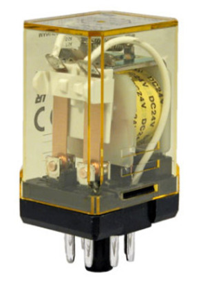 PLUG IN RELAY 10A DPDT 12VAC COIL