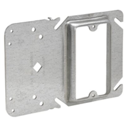 """4"""" Square Cover, 3/4"""" Raised, 2-Device, With Mounting Bracket"""