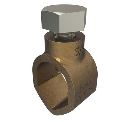 "Ground Rod Clamp, Diameter: 5/8"", 10 AWG to 2 AWG, Bronze"