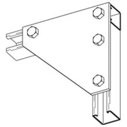 Four Hole Corner Gusset Plate, Zinc Plated