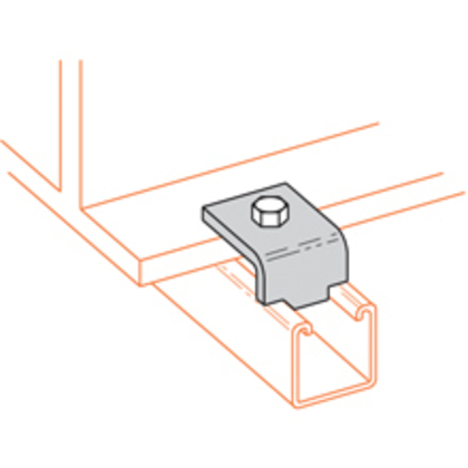BEAM CLAMP, 5/8-IN. MAX FLANGE, ZINC PLATED