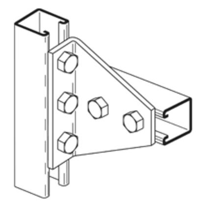 Five Hole Gussetted Shelf Angle, Zinc Plated