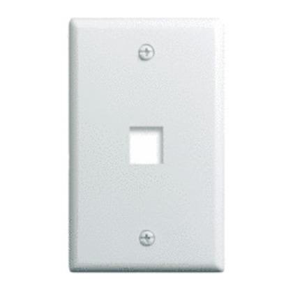 Wallplate, 1-Gang, 1-Port, White