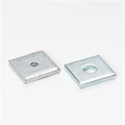 """Square Washer, 5/16"""" Bolt Hole, Steel/Zinc Plated"""