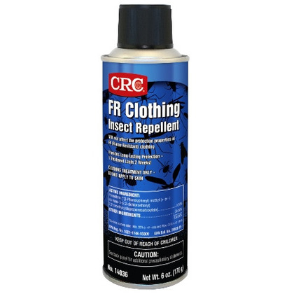 A special insect repellent to be used as a clothing treatment for Flame Resistant Clothing. Product is tested safe per ASTM F2621-06, Electrical ARC and Flammability Test.
