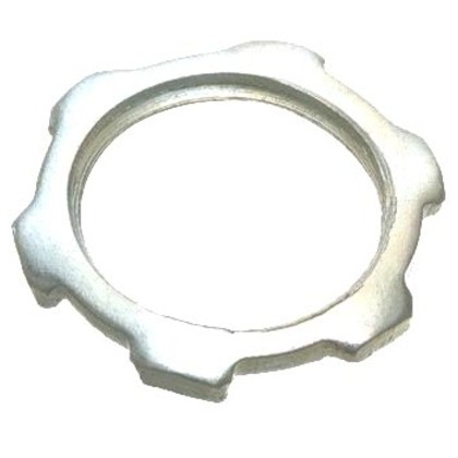 "Locknut, Size: 1/2"", Material: Steel"