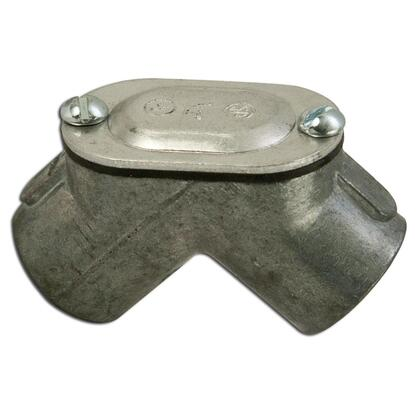 """Pulling Elbow, 1/2"""", 90°, Female/Female, Gasketed, Malleable Iron"""