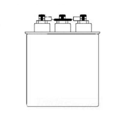 Capacitor, 4KVAR at 240V, 16.67KVAR at 480V, 3Ph, Dry Type