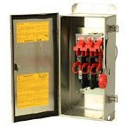 Safety Switch, 100A, 3P, 240V/250DC, HD Fusible, NEMA 4X