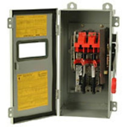 Safety Switch, 60A,3P,600V/250DC, HD Fusible, NEMA 12, Window