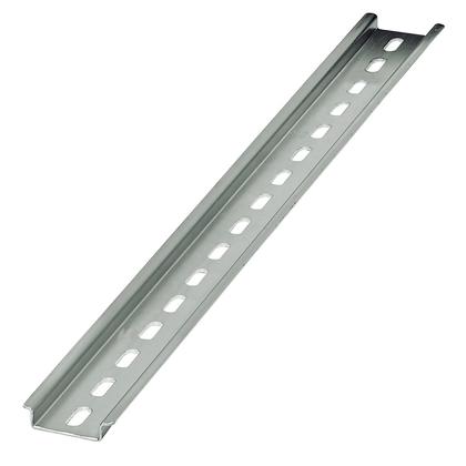 DIN Rail, Slotted, Zinc Plated Steel, 35mm x 7.5mm x 2m