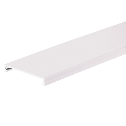 """PANDUCT Wiring Duct Cover, 2"""" x 6', PVC, White"""