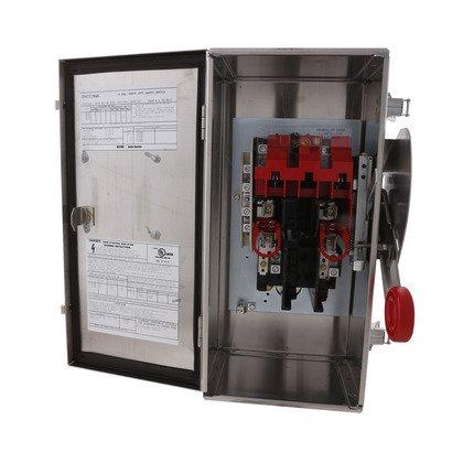 Safety Switch, 30A, 2P, 240V/250DC, HD Fusible, NEMA 4X