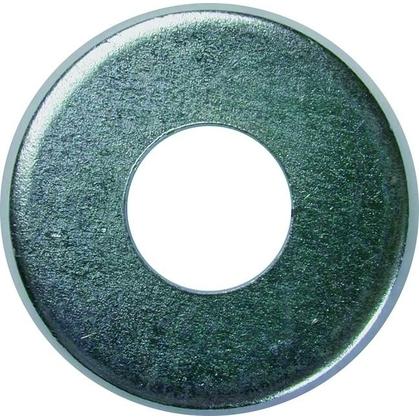 "Flat Washer, Steel, Electro-Galvanized, 3/8"""