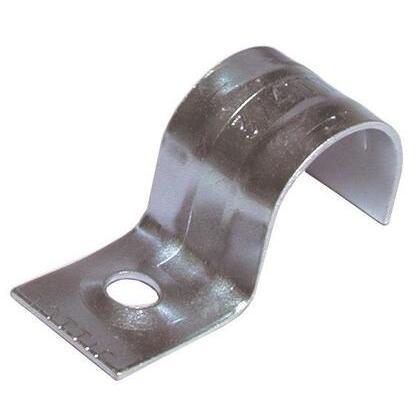 """EMT Conduit Strap, 1-Hole, 3/4"""", Steel"""