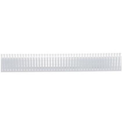 "Wiring Duct,  Narrow Slot, 1-1/2"" x 3"" x 6', PVC, White"