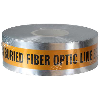 "3"" x 1000' Orange ""Buried Fiber Optic Line Below"" Detectable Barricade Tape"