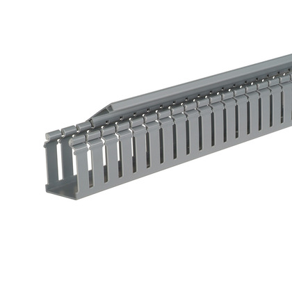 """Wide Slot Hinged Wiring Duct, 1-3/4"""", Gray, 6'"""
