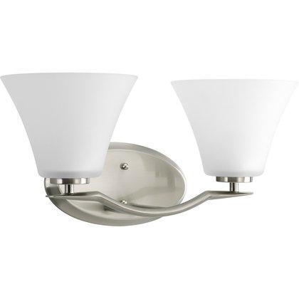 2-Lt. Brushed Nickel Bath Light