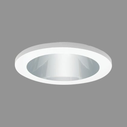 """4"""" Reflector with Socket Bracket, Copper/White"""