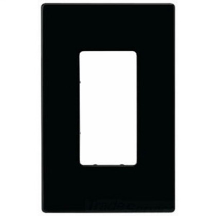 WALLPLATE 1G DECO SCREWLESS POLY MID BK