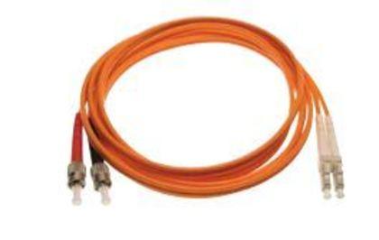 ST/LC Multimode Duplex Zip Cable Assembly, PVC, 1M