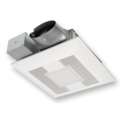 Whisper Ventilation Fan with LED Light, Shallow