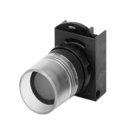 P/BUTT ILL FLUSH RED GLASS LENS *** Discontinued ***
