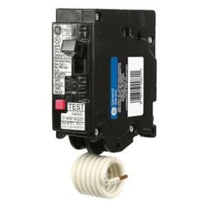 Breaker, 20A, 1P, 120VAC, 10kAIC, AFCI/GFCI, Dual Function, Plug-On