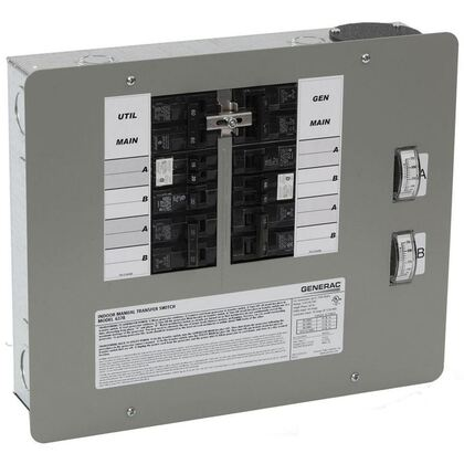 Transfer Switch, Manual, 30A, 125/250V, 10-16 Circuits, Kit *** Discontinued ***